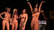 twerking contest ends with girls naked